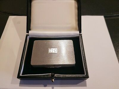 A Boxed, Gallaghers Sterling Silver Snuff/Pill Box