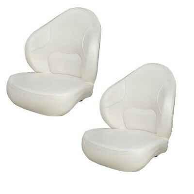 Boat Bucket Seat | Vinyl Poly Shell Off-White (Pair)