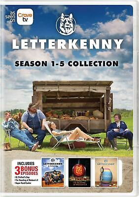 Letterkenny Complete Seasons 1-5 Collection [DVD Set Jared Keeso 1 2 3 4 5] NEW