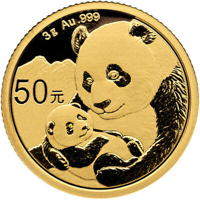 2019 China 3 g Gold Panda ¥50 Coin GEM BU SKU55887