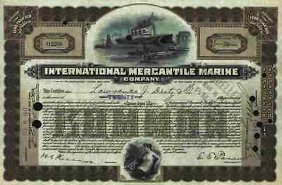 TITANIC IMM 1917 White Star Linie Lloyd Stettin Brown less 100 Sh Columbuspier
