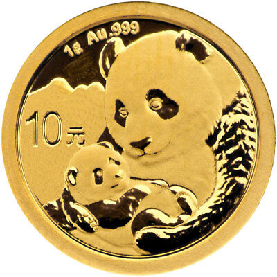 2019 China 1 g Gold Panda ¥10 Coin GEM BU SKU55888