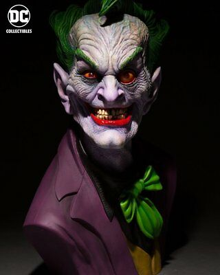 DC Comics Life Size 1:1 Scale DC Gallery Rick Baker Joker Bust Statue In Stock