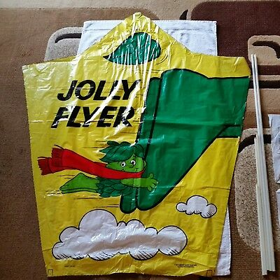 Vintage 1970's Jolly Green Giant  Little Sprout  Kite & Parachute  Never Used