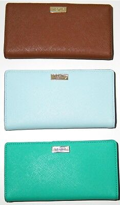 f224f75ad5c5 NWT Kate Spade Laurel way Stacy Leather Wallet New York Wellesley Printed  Stacy