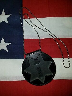 Recessed Badge Holder Star 7 Point CDC Sheriff Marshall Police CHP Security