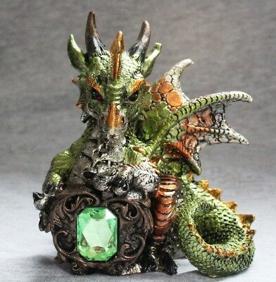 Dragon Statue Fantasy Mythical Gothic Mystical Figurine Decorative Ornament D