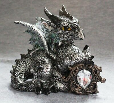 Dragon Statue Fantasy Mythical Gothic Mystical Figurine Decorative Ornament A
