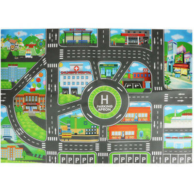 Game Map Educational Toys Toy Car Map children Mat City 32.68 22.83 inches