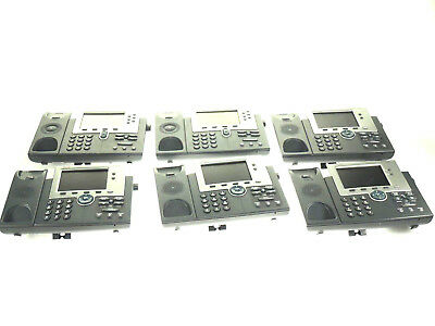 LOT of SIX - Cisco 7945 & 7961 Unified IP Phone VoIP Telephone BASE ONLY -TESTED