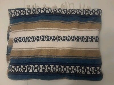 Authentic Mexican Falsa Throw Blanket  66' x 44'
