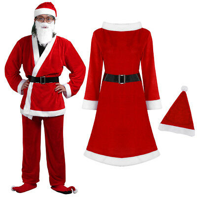 Sexy Christmas Suit Santa Claus Womens Mens Costume Xmas Christmas Party Clothes
