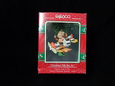 ENESCO CHRISTMAS ORNAMENT: CHRISTMAS FILLS THE AIR! 4th in series