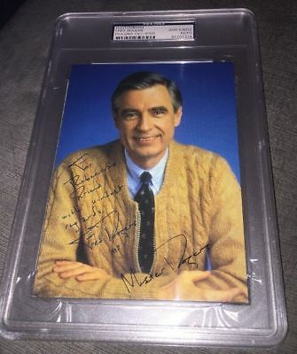 Signed Mister Fred Rogers 5x7 Photo (with inscription) PSA/DNA auto mr rogers