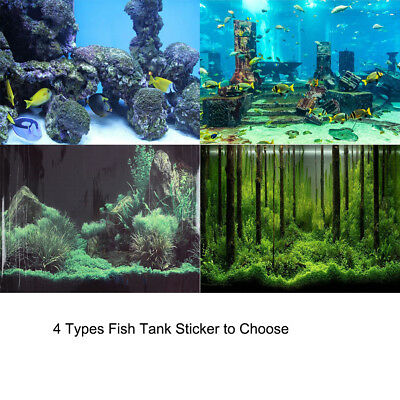Coral Aquarium Background Underwater Poster Fish Tank Wall Decorations Sticker
