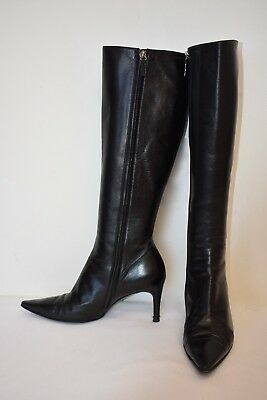 b4275528a76 GUCCI WOMEN S DARK BROWN GENUINE LEATHER POINTED TOE BOOTS SIZE 8 ...
