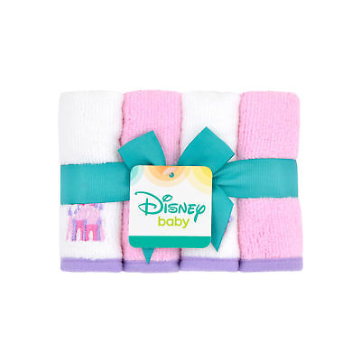 NEW WITH TAGS - Disney Princess Baby Infant Washcloths 4pck