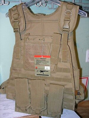 Modular Plate Carrier Vest Coyote Tan Fox Outdoor Products Tactical Survival NEW