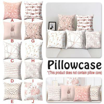 Rose Gold One Side Printed Cushion Cover Geometric Throw Pillow Case Home Decor