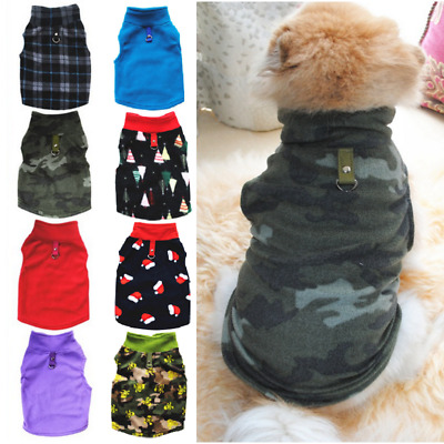 Small Dog Fleece Jumper Winter Coat Pet Puppy Chihuahua Warm Sweater Clothes UK