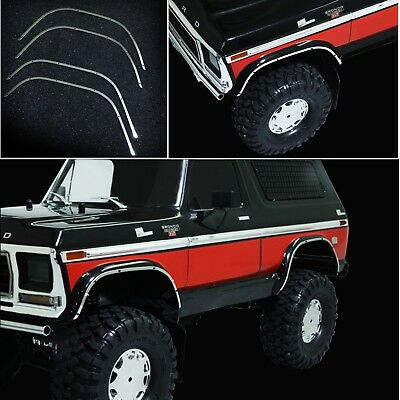 1/10 RC Car Wheel Arch Guard Protection Strips Set For Traxxas TRX4 Ford Bronco
