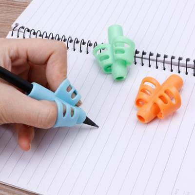 3x  Two-finger Grip Silicone Baby Pencil Learn Holder Writing Tools Writing Pen