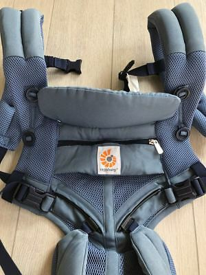 NEW w/out BOX! ERGOBABY OMNI 360 COOL AIR Multi Position Ergo baby carrier BLUE