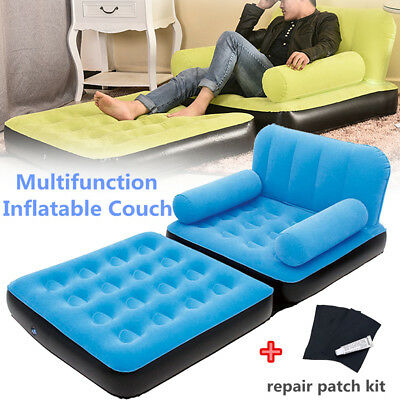 Portable Multi Functional Inflatable Airbed Chair Sofa Couch TV Camping Mattress