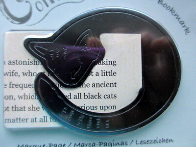 Curled up Corners Metal Bookmark Cat Small Christmas Stocking Gift