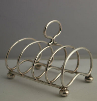 George V Solid Silver Toast Rack - Birm. 1927