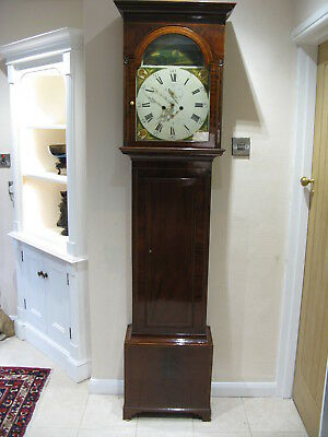 A Superb 8 day Grandfather Clock !9th century Flame Mahogany Case