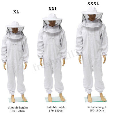 Bee keeping Beekeepers Protective Suit ventilated Veil Hat jacket Smock XL-XXXL