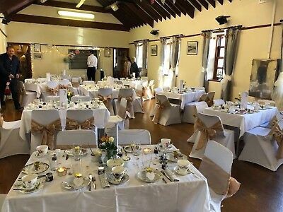 50 Used White Lycra Arched Chair Covers