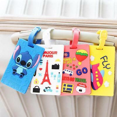 Suitcase Luggage Tag Cartoon ID Address Holder Baggage Label Travel Accessories