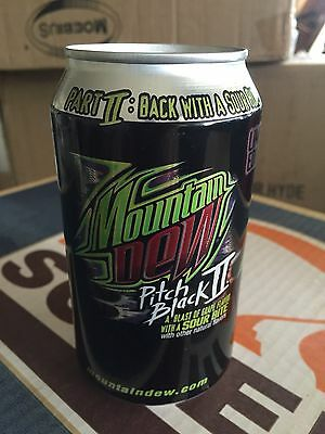 Mountain Dew Pitch Black II 2 SOUR Bite Soda Can 2005