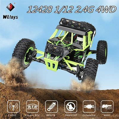 Wltoys 12428 RC Buggy Booster Pro Brushless 4WD 1:12 RTR 2,4 GHz 50km/h GESCHENK