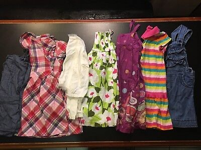 EUC Lot of girls spring summer fall dresses size 5 5T
