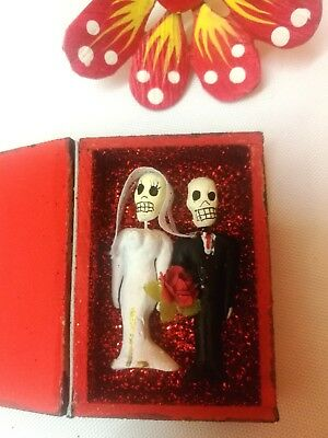 "Authentic Mexican Folk Art Day of the Dead Wedding Day ""Amor Eterno"" Box (c)"