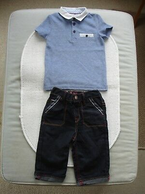 Baby Boys Dark Blue Jeans Age 6-9 months- Ted Baker