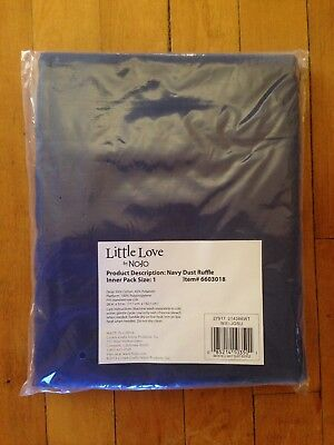 NWT Little Love by NoJo Separates Collection Solid Crib Skirt, Navy Solid Navy