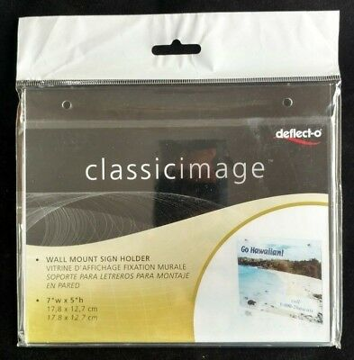 """Classic Image® Wall Mount Sign Holder 7"""" x 5"""" Item #68101"""