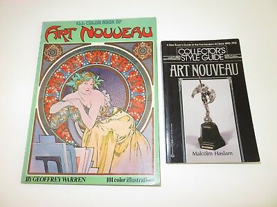 Geoffrey Warren All Color Book Of ART NOUVEAU & Collectors Style Guide M. Haslam