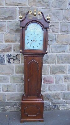 Antique Georgian Mahogany Cottage Longcase Clock
