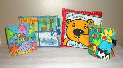 Baby Assorted Cloth Books x 4