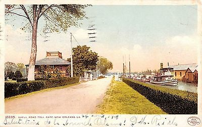 Louisiana postcard New Orleans, Shell Road Toll Gate ca 1908