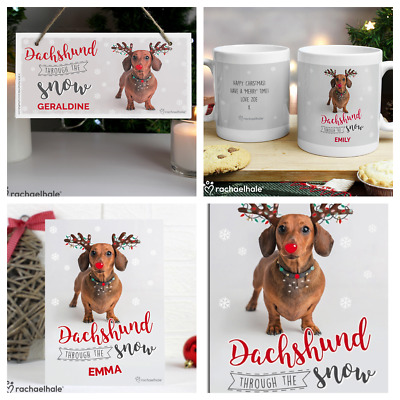 PERSONALISED DACHSHUND GIFTS CHRISTMAS GIFT IDEA Daxie Sausage Dog Theme Present
