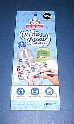 WRITE AWAY Waterproof, Microwave & Dishwasher Safe MABEL'S LABELS - 30 Boys NEW!