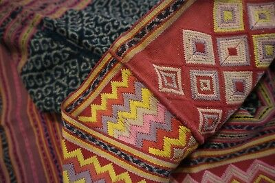 Indonesian Antique Sarong / Throw-Embroidered and hand loomed /original $395