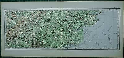 1922 Large Map ~ Middlesex London Hertfordshire Essex Chelmsford Colchester