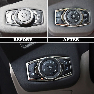 For 12- Ford Focus Kuga Chrome Fog Head Light Lamp Switch Button Cover Trim S